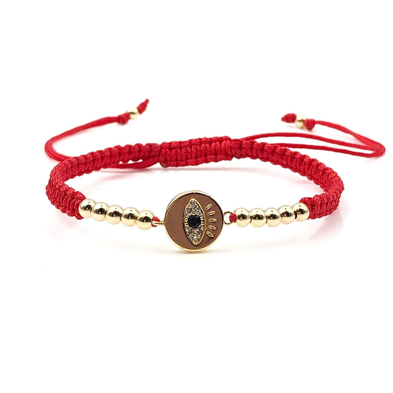 Lucky Evil Eye Charm Red String Adjustable Bracelet for Women Protection