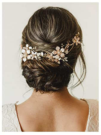 Silver leaf hair accessories Elven wedding hair piece Flower girl gift Bridesmaids hair vine