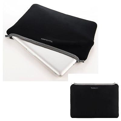 "Slim Laptop Sleeve Pouch Tablet Pouch Computer Cover 12.5"" / 13.3"" for HP EliteBook / Stream 11 / Chromebook 11 / Chromebook 13 / ProBook x360 / Spectre x2 / Pavilion / Pro (Black/Gray Trim)"