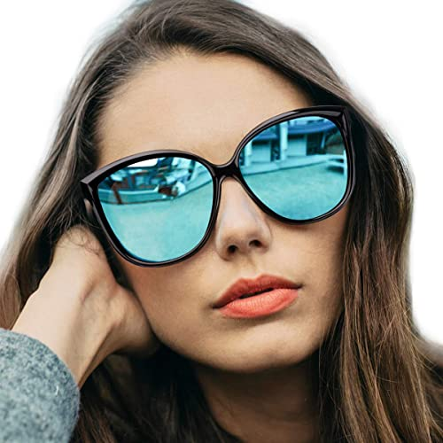 f6983cb795 Amazon.com  LVIOE Cat Eye Sunglasses for Women