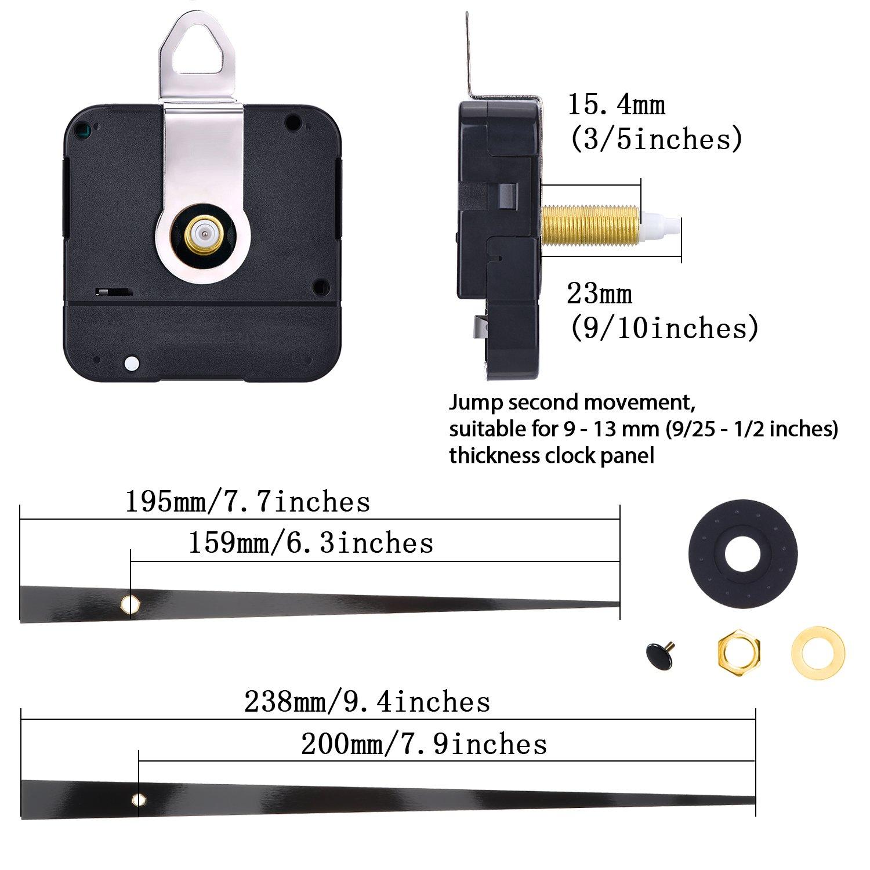 M/écanisme de Mouvement de lHorloge /à Quartz Pi/èces de la R/éparation DIY Set