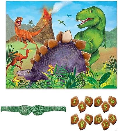 Unique Party- Juego de Fiesta de Dinosaurios para 12 (58308): Amazon.es: Juguetes y juegos