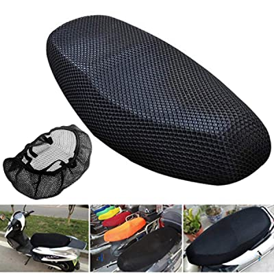 dDanke Motorcycle Scooter Moped Seat Cover Cap Breathable Net Cushion 3D Spacer Mesh Fabric with Bouncy, Black: Clothing