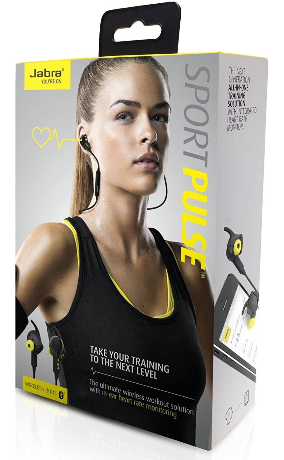 6709f6cbd8475 Jabra SPORT PULSE Wireless Bluetooth Stereo Earbuds with Built-In Heart  Rate Monitor (US Version)  Amazon.ca  Cell Phones   Accessories