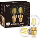 DORESshop Wi-Fi Vintage Edison Smart Bulb, E26 Dimmable 10W(75W Equivalent) A19 Filament Wi-Fi Smart LED Light Bulb, A19…