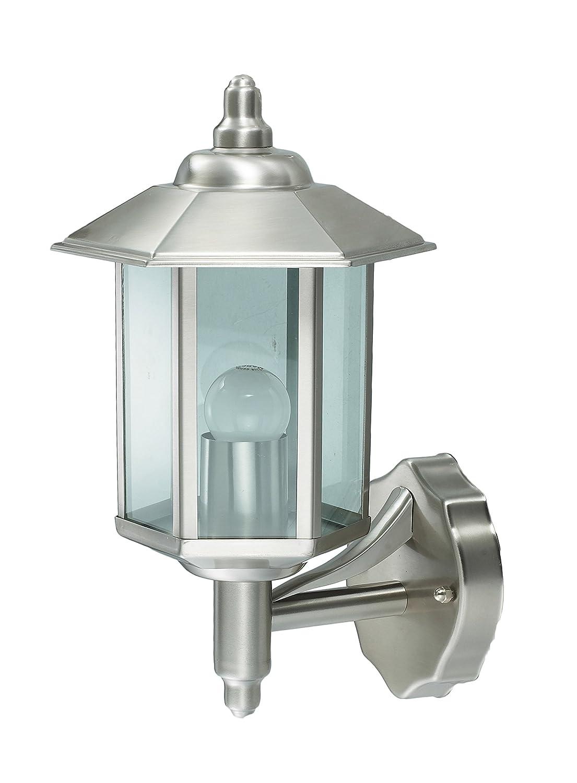 Außenleuchte E27 Edelstahl Lampe Wandleuchte Außenlampe Gartenlampe LED Leuchte (Wandlampe Hausnummer BWG) wugos