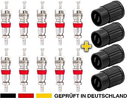 Einkopf-Ventil Entferner+ 4 in1 Reparatur-Werkzeug YANSHON 32-Teilig Reifenventilentferner/ Reifen ventileinsatz/ f/ür Auto,Motorrad,Fahrrad