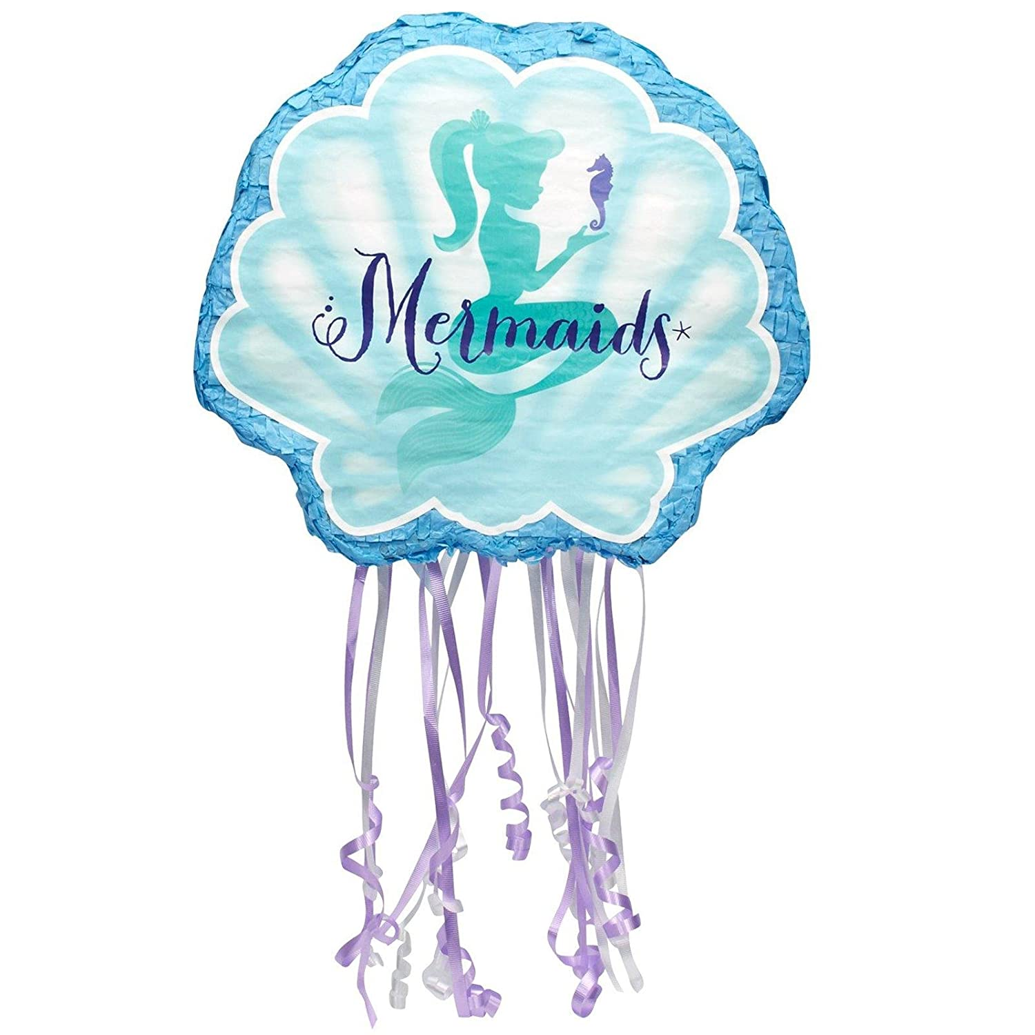 Mermaids Under the Sea Party Supplies - Pull String Pinata