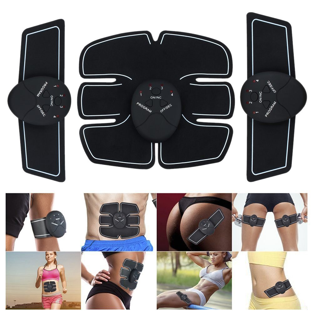 wivarra Muscle Toner Abdominal Toning Belts EMS Abs Trainer Body Fitness Trainer Gym Workout And Home Fitness Apparatus For Men & Women
