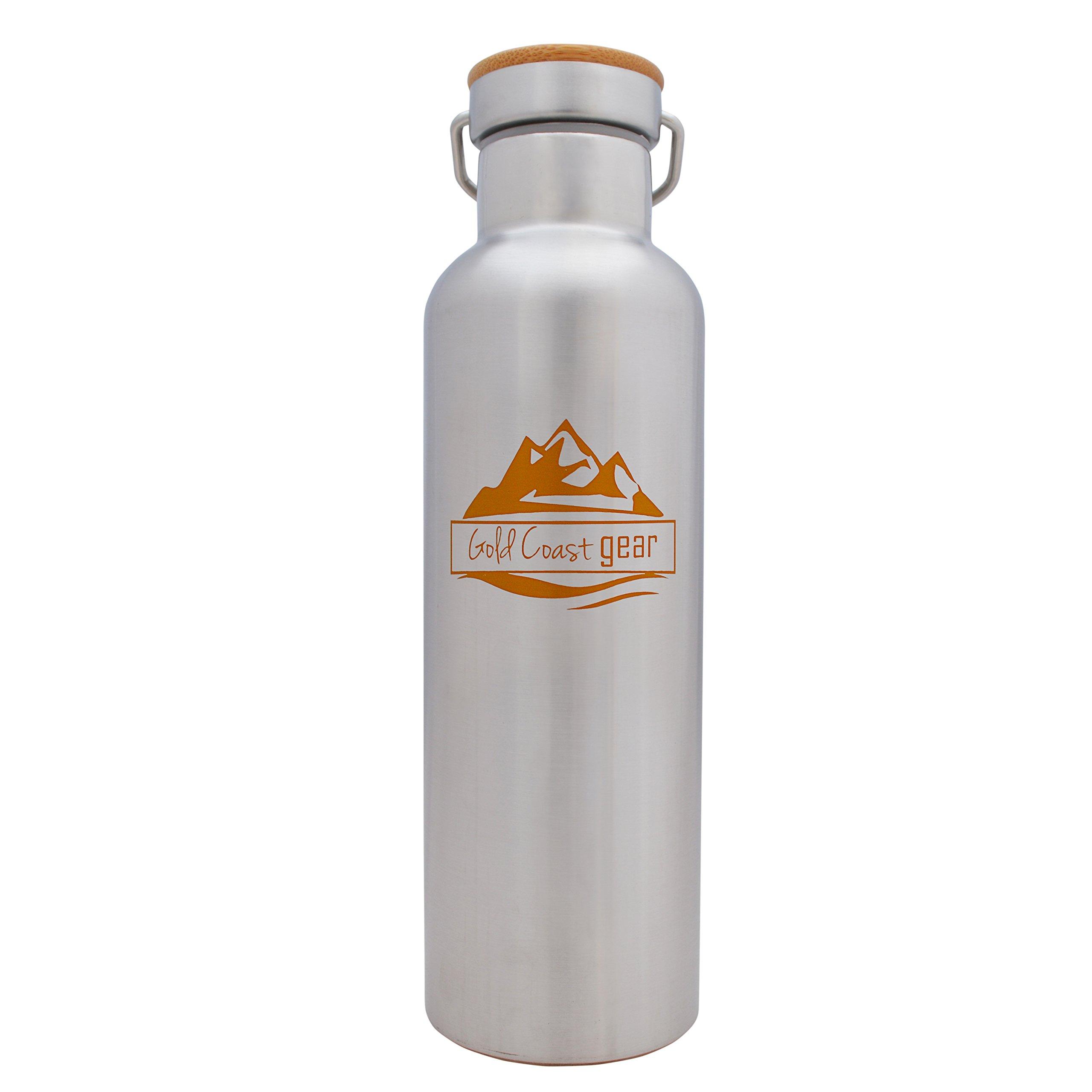 Vacuum Insulated Stainless Steel Water Bottle ( 25 OZ / 750 ML ). Zero Condensation! (750ml) by Gold Coast gear (Image #1)
