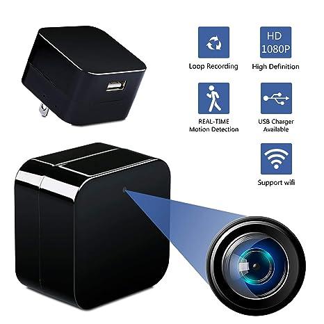 Alfheim Mini cámara espía, WiFi Cámara Oculta inalámbrica HD 1080P con detección de Movimiento visión
