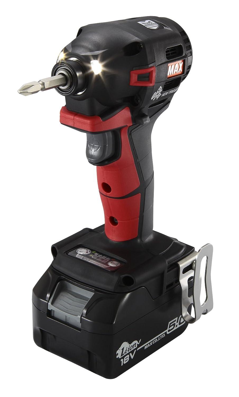 MAX PJ91182 充電式ブラシレス インパクトドライバ18V2.5Ah(赤) PJ-ID152R-B2C/1850A B075YWC3FG