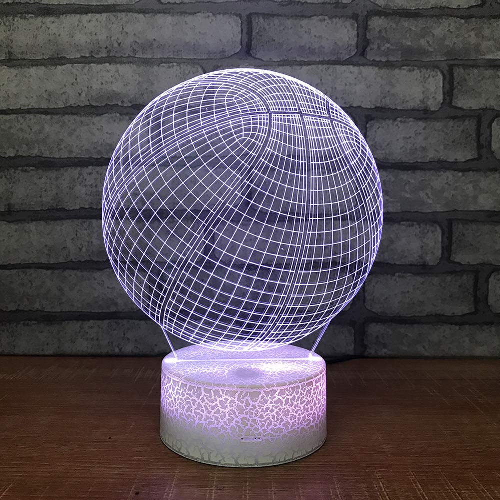 Togethluer Creative 3D 7 Color LED Touch Night Light,Bedroom Desk Lamp Home Decor Gift by Togethluer (Image #4)