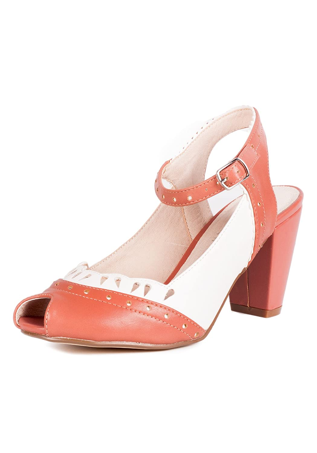 Chelsea Crew PASSION Vintage Inspired Scalloped Peep Toe Pump  AT vintagedancer.com