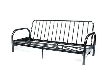 Roundhill Furniture Black Metal Futon Frame, Full