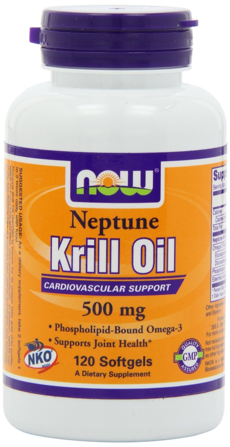 NOW Foods Neptune Krill Oil 500mg, 360 Softgels Pack (1y5mlgh Now-ct