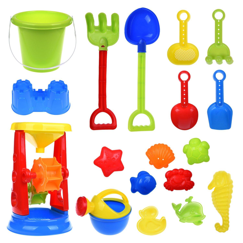 Kids Beach Sand Toys Set With Mesh Bag, Sandbox Toys Sand