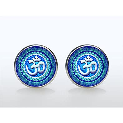 Amazon Om Earring Yoga Jewelry Earring Lotus Flower Om Symbol