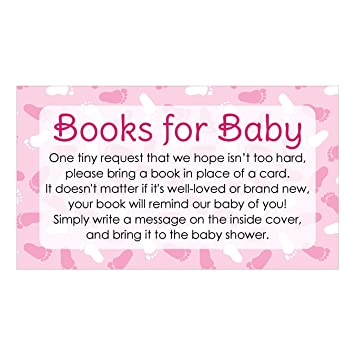 Wonderful Books For Baby Request Cards   Girl Baby Shower Invitation Inserts (20  Count)