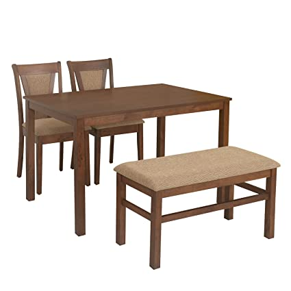 236a9e14390  home by Nilkamal Jewel 4 Seater Dining Table Set (Walnut)  Amazon.in  Home    Kitchen
