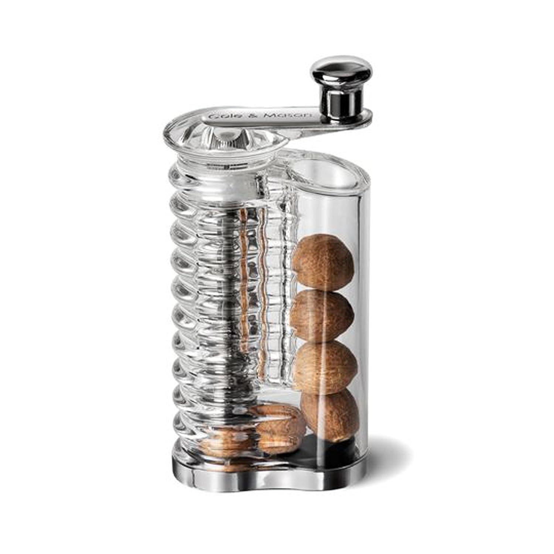 Cole & Mason Wallis Nutmeg Mill, Acrylic, Silver, 6 x 6 x 15 cm H101119