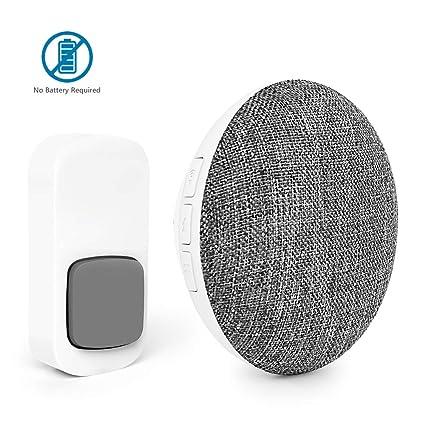 Wireless Door Bell Recordable BITIWEND MP3 Doorbell Self-Powered Door Bell  Chime with 500ft Range,8 Melodies+1pc DIY Record Sound,Speaker Sound