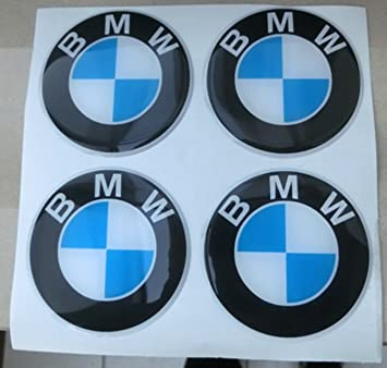 Adhesivos de resina para tapacubos BMW, 60 mm , calidad 3M, pegatinas para tuning en 3D (4 unidades): Amazon.es: Coche y moto