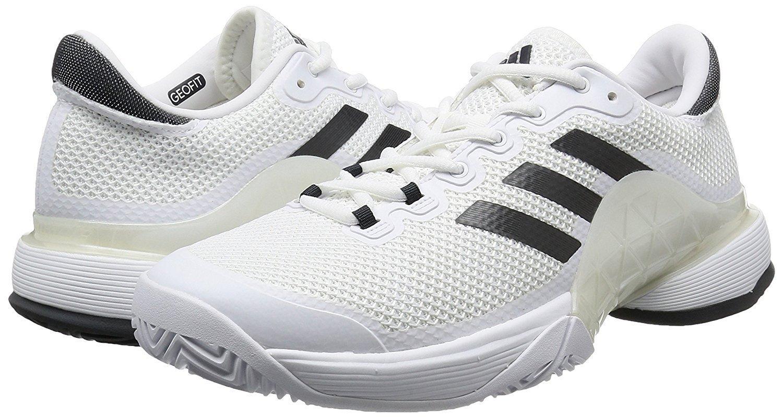 adidas(アディダス) オールコート用 メンズ テニスシューズ 29.0cm Barricade バリケード 2017 国内正規品 BA9072 ランニングホワイト/ソリッドグレー B07CKMM9RD