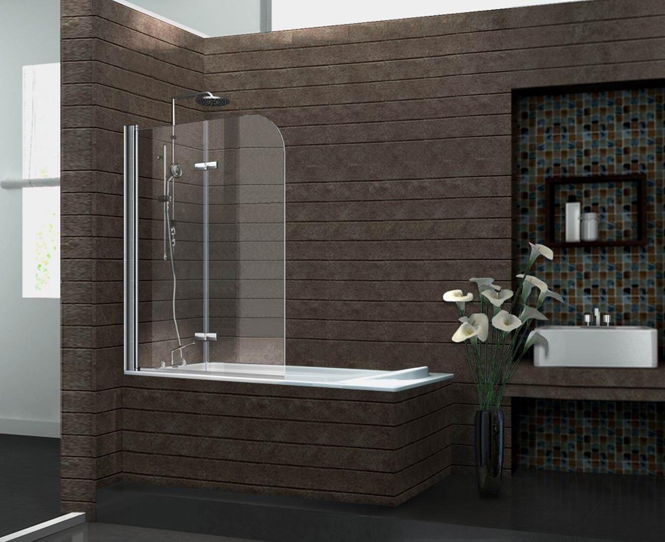 Duschtrennwand BREASE 120 x 140 (Badewanne): Amazon.de: Baumarkt
