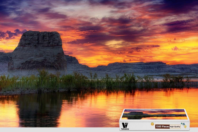 芸能人愛用 pigbangbang、34.4 Arizona湖 X – 22.6インチ B07FS12XCV、Stainedアートパズルfor Kids Adult Have Jigsaw接着剤木製 – Arizona湖 – 1500ピースジグソーパズル B07FS12XCV, DIY+:2a5ee3b6 --- 4x4.lt