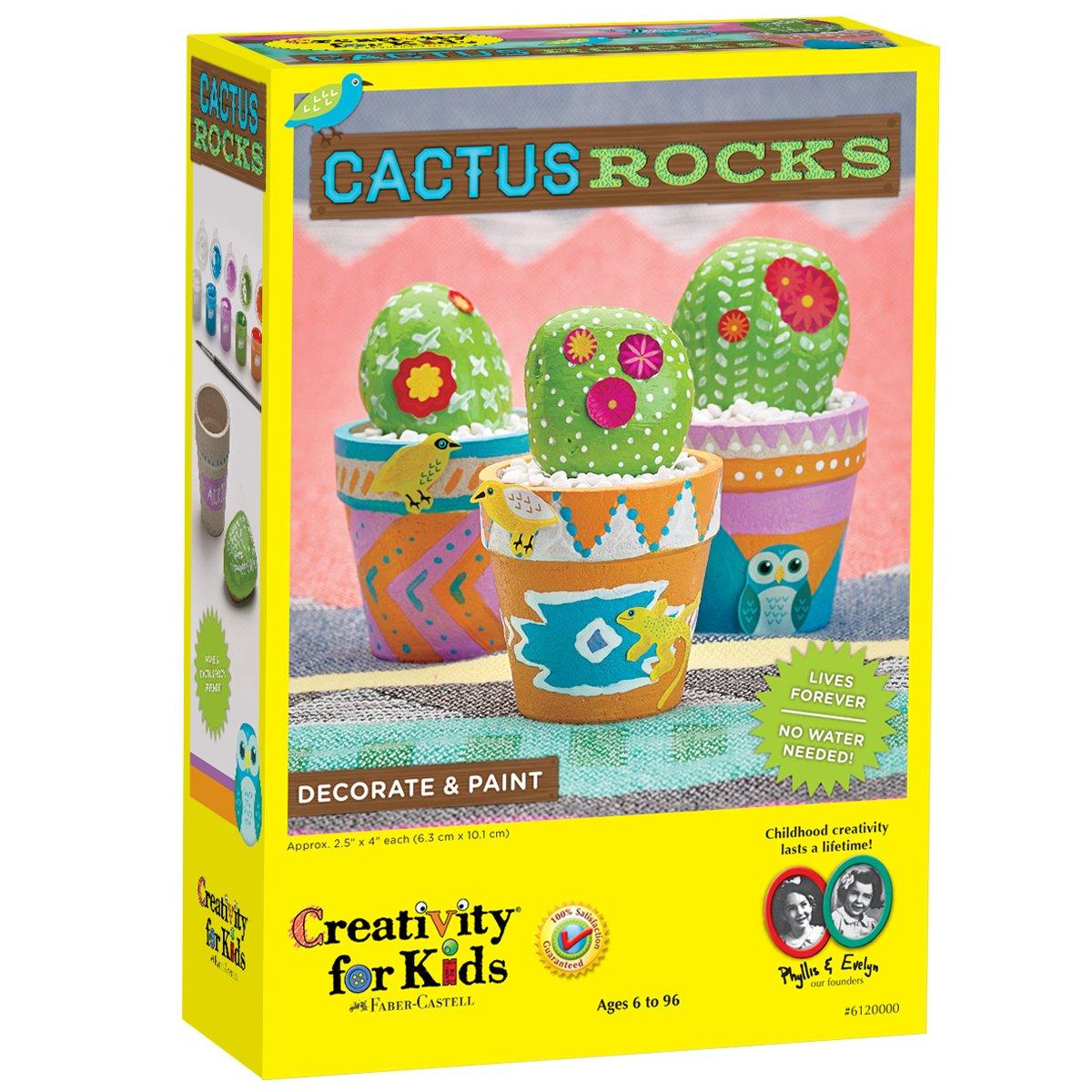 Creativity for Kids Cactus Rocks
