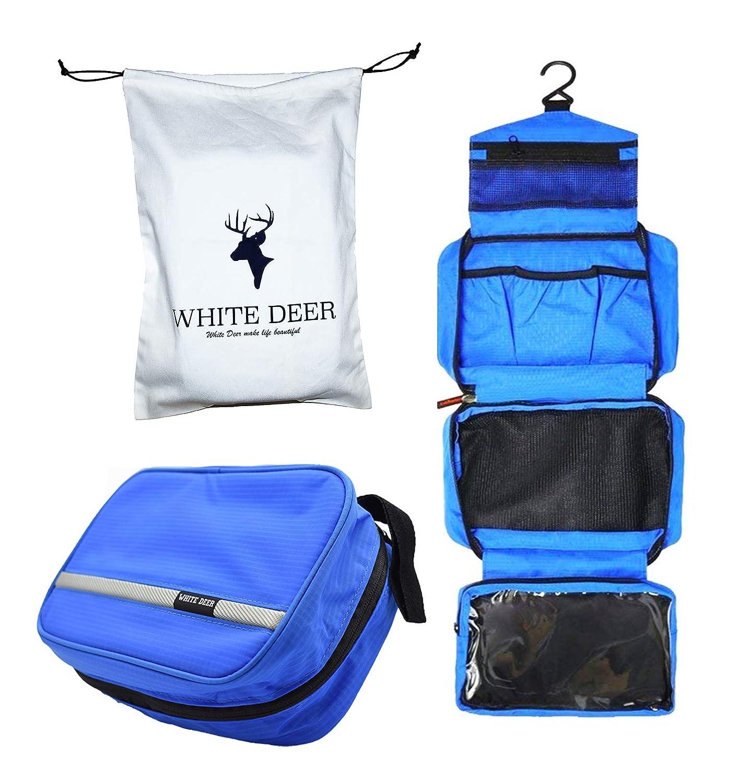 Kulturtasche zum Aufhängen, Kosmetiktasche |Wasserdichte Waschbeutel, reißfest, strapazierfähig | Ultraleichte Falten Reisetasche Kosmetiktasche(Blau)+Stoffbeutel(Geschenk) reißfest