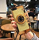 iphone 6 case iphone 6S case MEIQING New Modern 3D Vintage Style Bling Camera Design Soft Cover For 4.7 iphone 6/iphone 6S with Strap Rope and a Screen protector