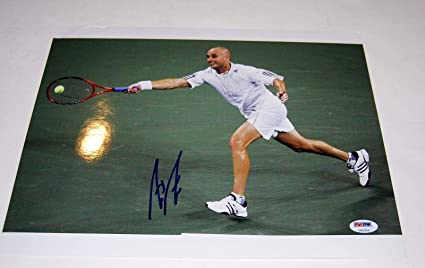 d55f1a8a7c748b Andre Agassi Signed Photo -)  WIMBLEDON  11X14 - PSA DNA Certified ...