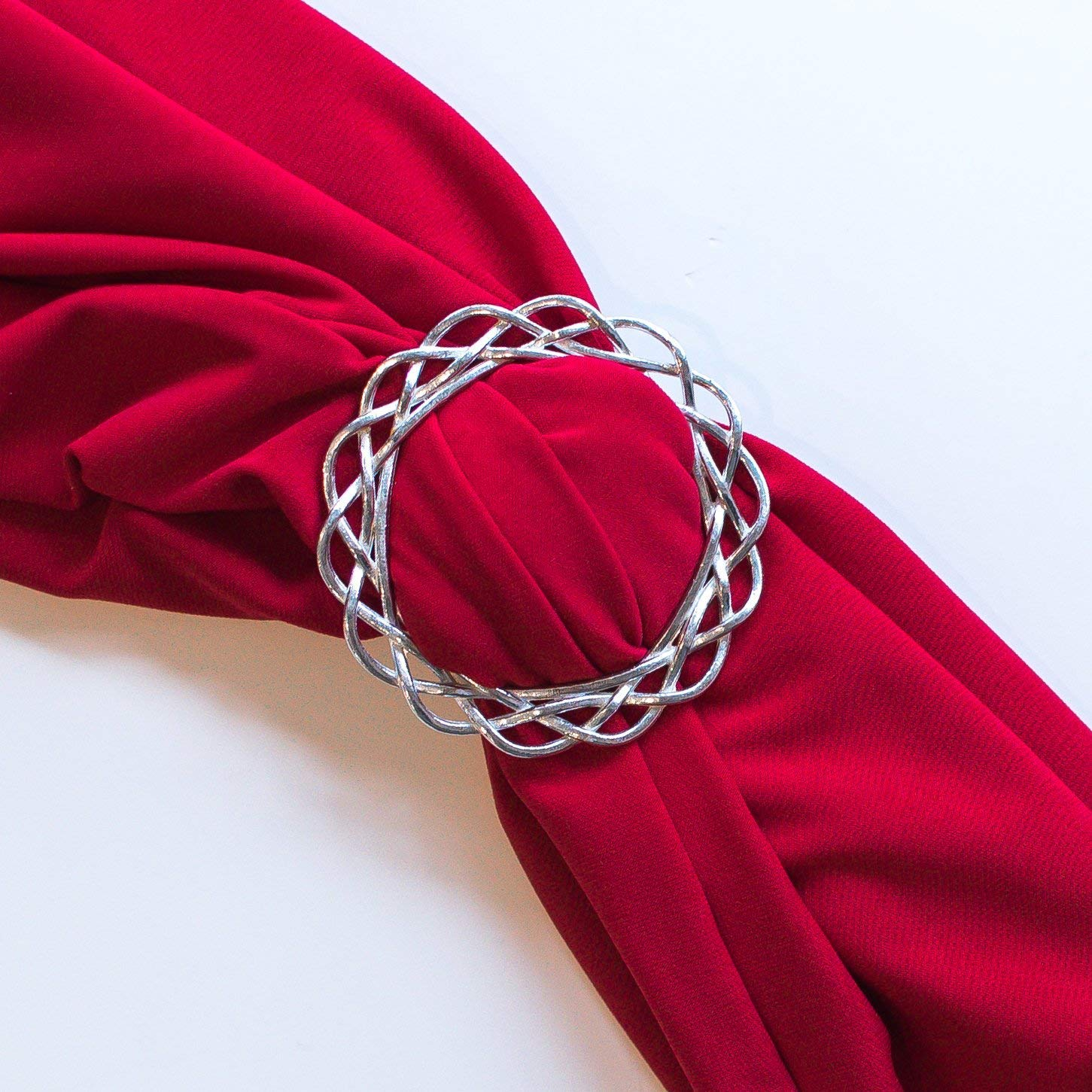 Hand Cast Fine Pewter Scarf Ring Scarf Jewelry