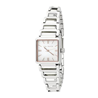 0074cdb15be Ted Baker Ladies Watch TE4012 with Mother of Pearl Dial and Silver  Stainless Steel Bracelet  Ted Baker  Amazon.co.uk  Watches