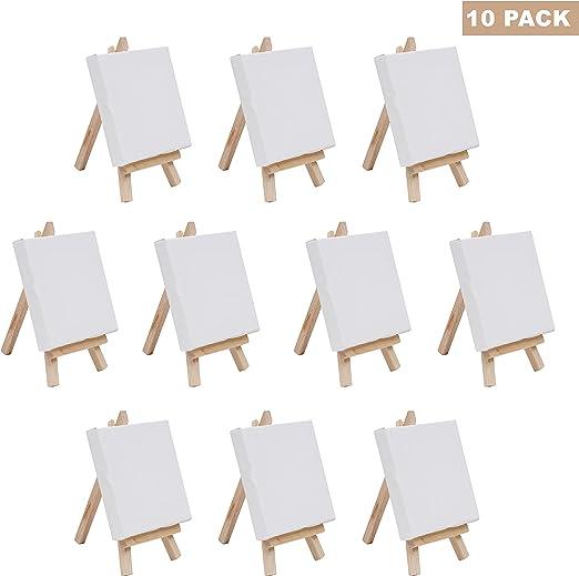 BELLE VOUS Mini paneles de lona Arte con juego de caballete de ...