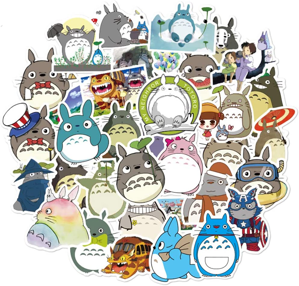 Cartoon Anime Stickers Pack for My Neighbor Totoro,50 Pcs Funny Stickers Pack for Kids Boys Girls Teens Child Adults,Stickers for Laptop Computer Water Bottles Desk Wall Phone Bike