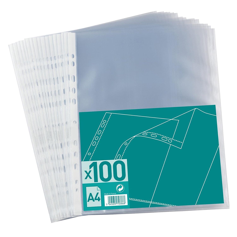 incolore formato A4 Confezione da 100/buste portadocumenti in polipropilene