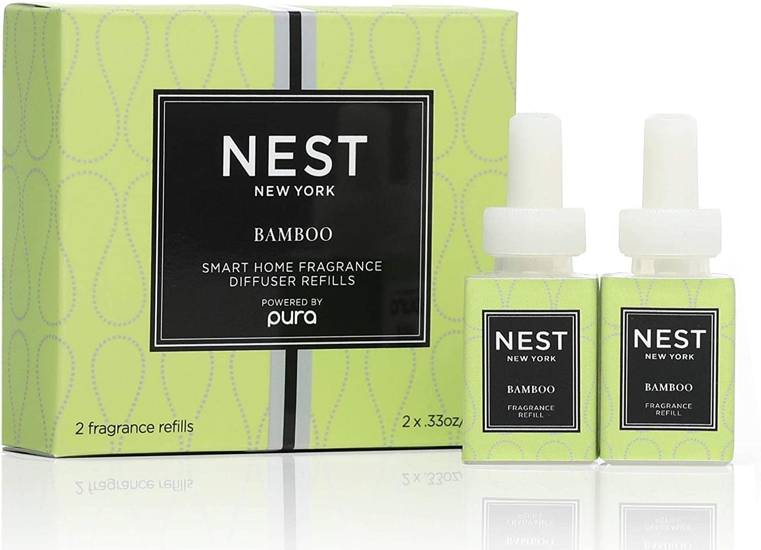 NEST Fragrances Smart Home Fragrance Diffuser Refill (Set of 2)- Bamboo