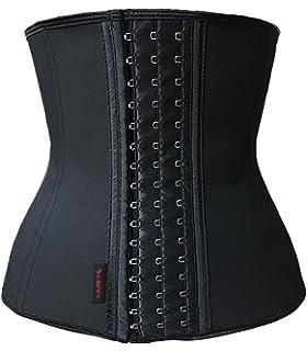 8a6332de14 Dilanni Women s Breathable Elastic Waist Trainer Cincher XS to 3XL Latex  Shapewear Steel Boned Corset
