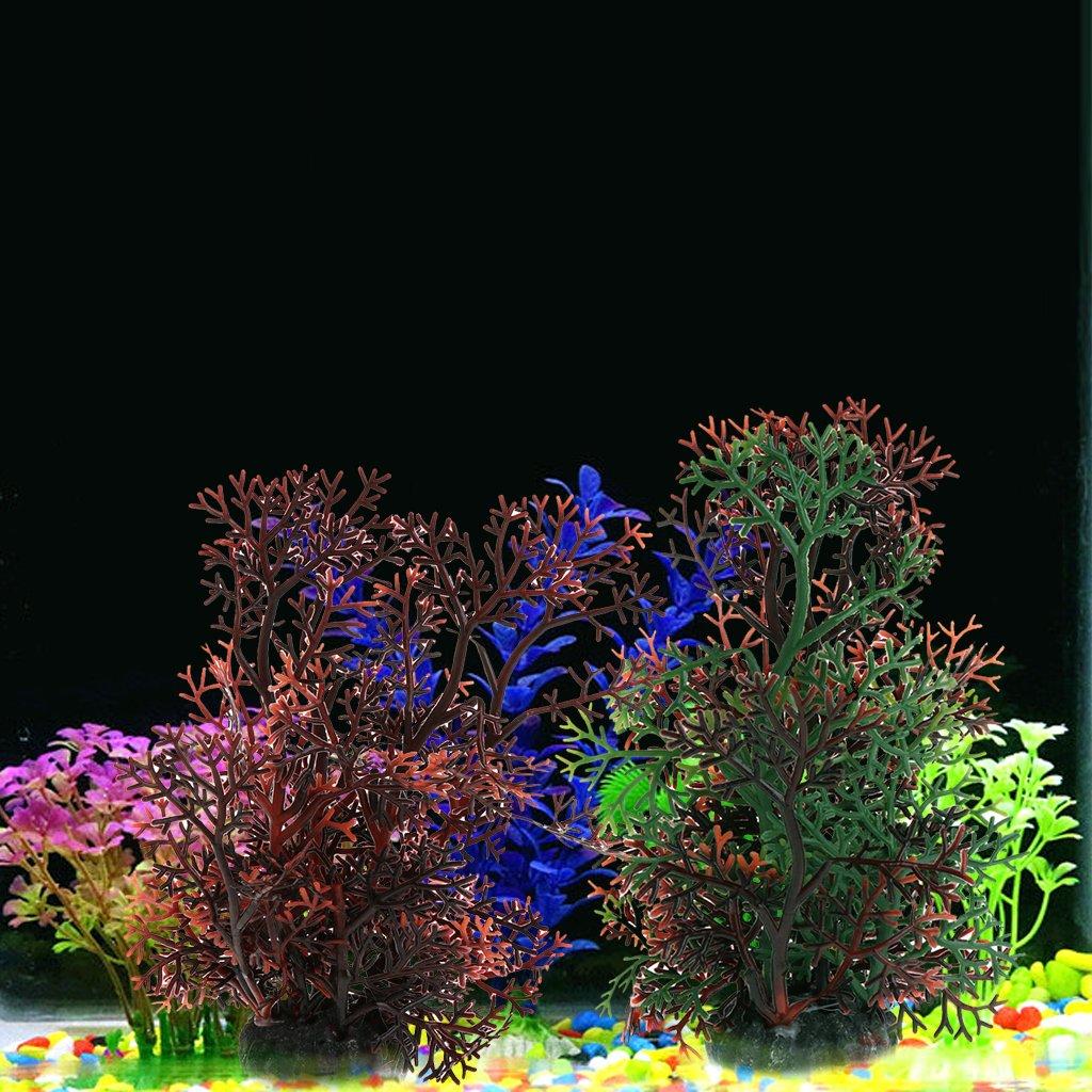 Tandou - Adorno para Acuario, diseño de césped de césped de Coral Artificial: Amazon.es: Productos para mascotas