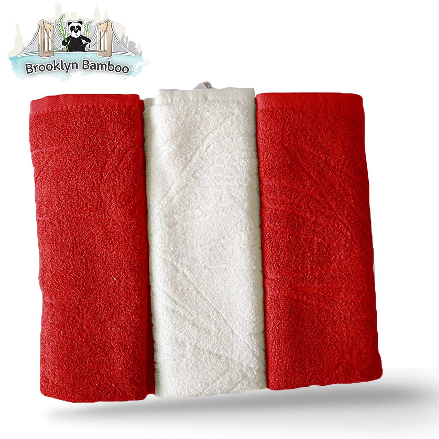 Brooklyn Bamboo Kitchen Dish Towels Soft Reusable Absorbent Organic Eco  Friendly More Durable Than Cotton, 26 x 18 Inches, Pack of 3, Red