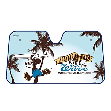 Image Unavailable. Image not available for. Color  Napolex Disney Mickey  Mouse Car Windshield Sun Shade ... 0c120ef89f4