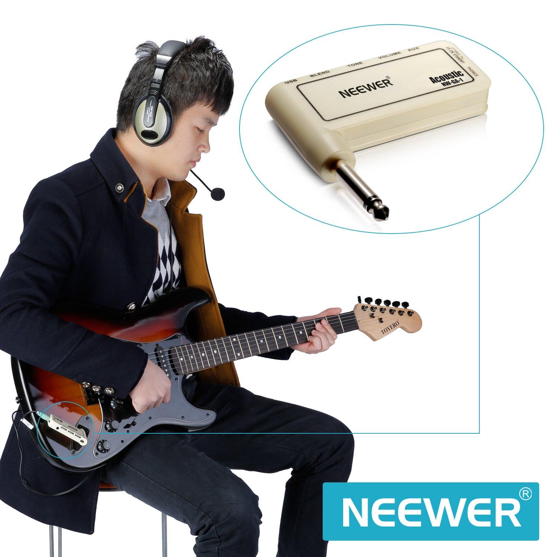 Neewer® Guitarra acústica Amp Plug eléctrico recargable guitarra amplificador de auriculares, portátil y compacto, NW-GA-1: Amazon.es: Electrónica