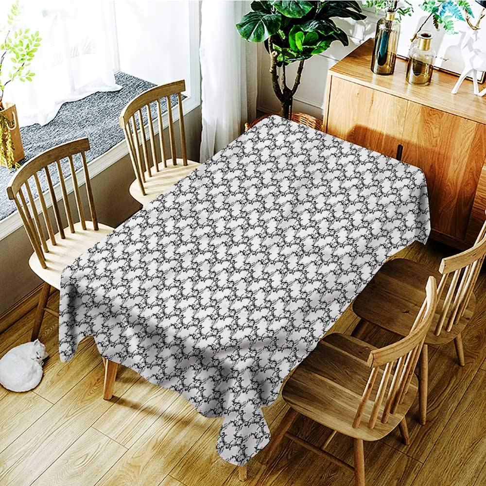 Amazon Com Familytaste Black And White Tablecloths Classical Curly