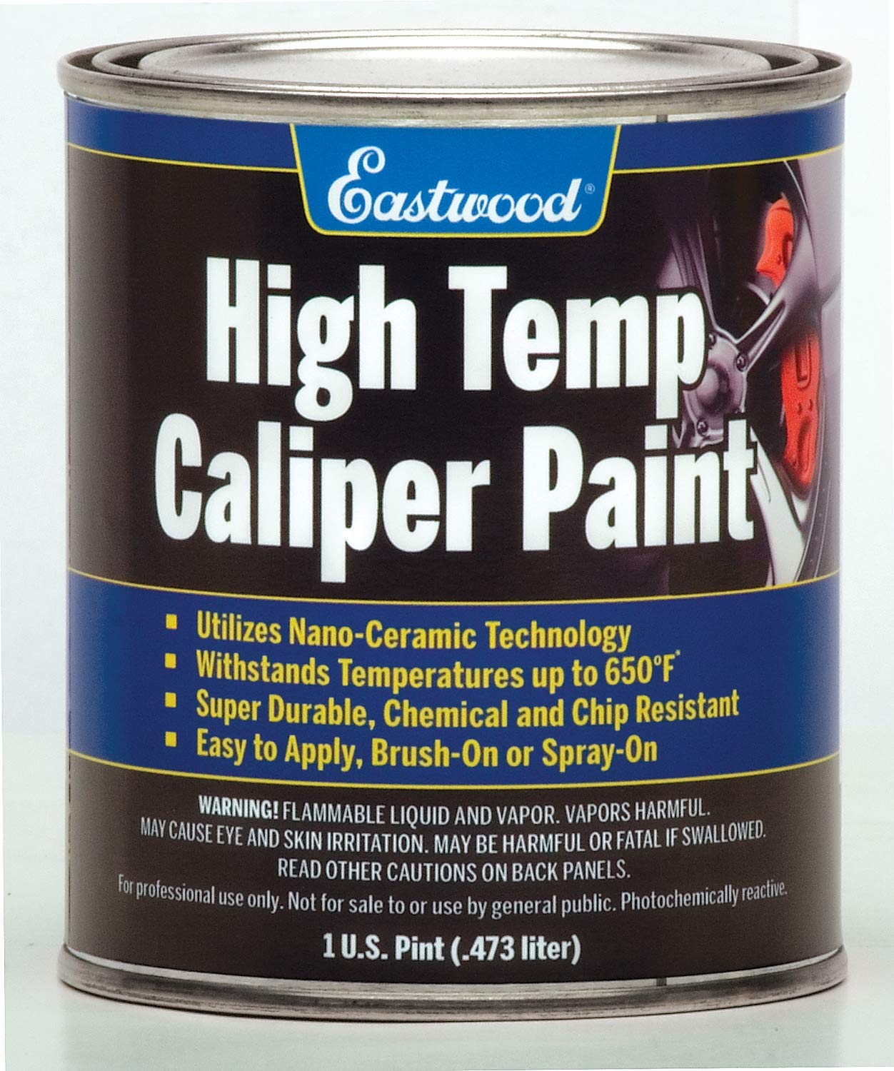 Eastwood Long Lasting Heat Resistant Red Caliper Paint 16 oz with Mixing Cup by Eastwood (Image #1)