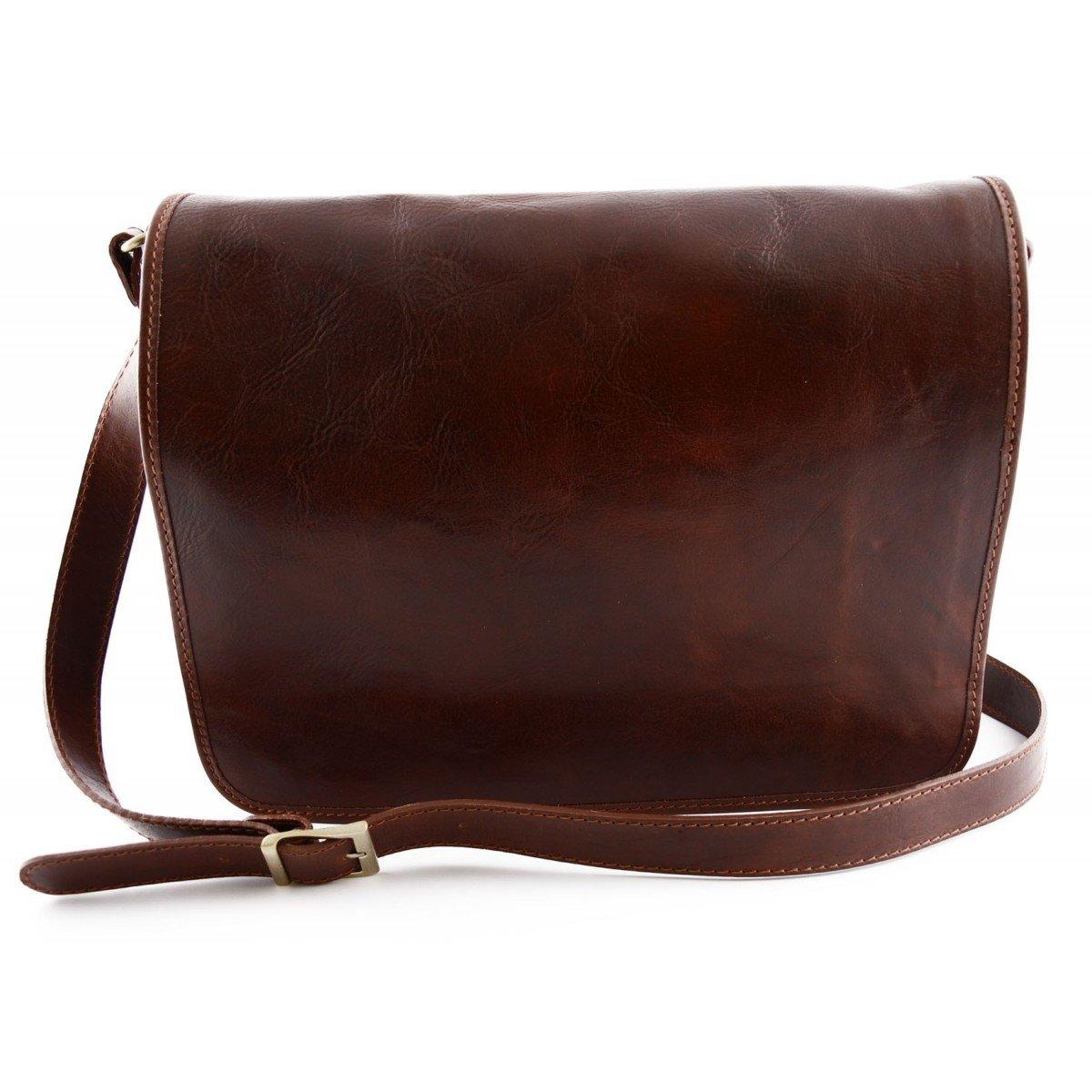Leather Messenger Bag Color Brown