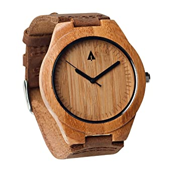 0db8a5532d Image Unavailable. Image not available for. Color  Treehut Mens Wooden  Bamboo Watch ...