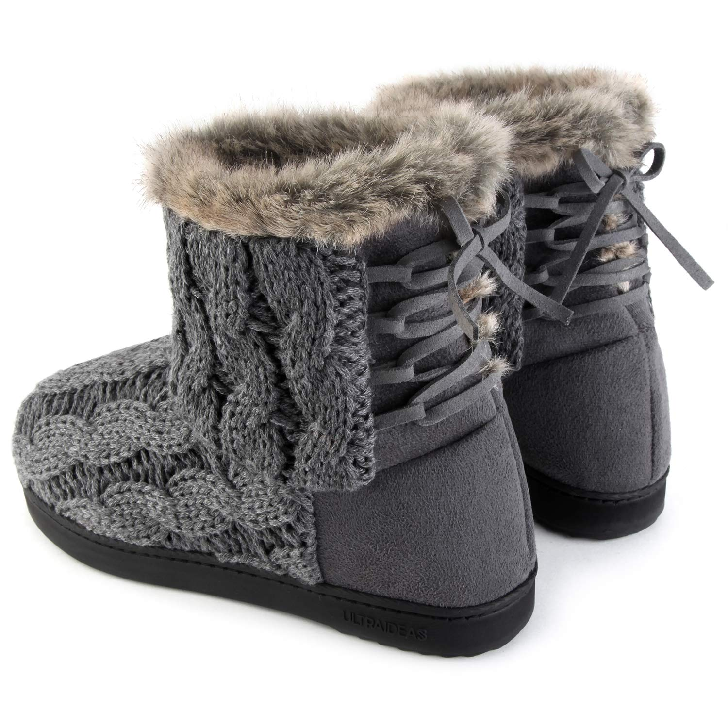 e7852eeef Shoes ULTRAIDEAS Womens Soft Yarn Cable Knit Bootie Slippers Memory Foam  Indoor & Outdoor Shoes ...